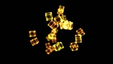 Bright Rotating Cubes - Loop Golden