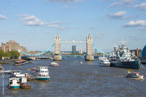 Tower Bridge On The Thames River In London