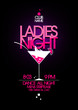 Ladies night party design with martini glass. - 61514229