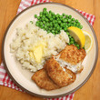 Breaded Fish Fillets with Mash & Peas