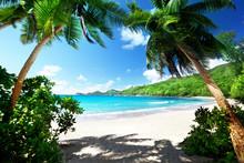 na plaży, Mahe Island, Seszele