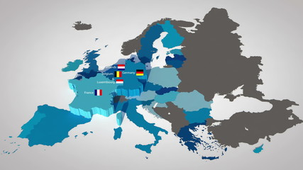 European Union countries, ordered by year of entry
