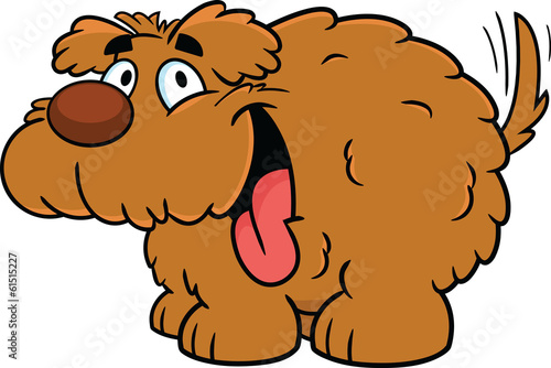 Fluffy Cartoon Dog