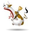 mucca terrorizzata