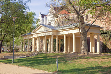 Brno. Resort  Colonnade in the park on Petrov hill