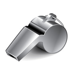 Metal whistle vector illustration