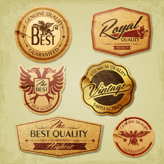 Vintage label for premium quality