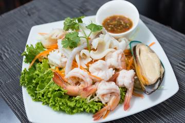 Poached seafood dip