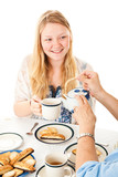 Blond Teenage Girl at Tea Party