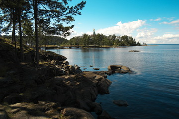 Остров Валаам. Берег Ладожского озера. Купол церкви