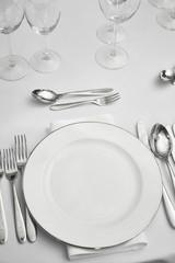 restaurant table setout