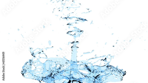splash of water in extreme slow motion, alpha channel included