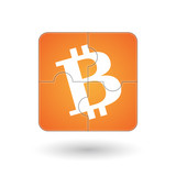 Puzzle with a bitcoin icon