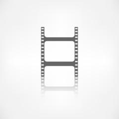 Film web icon. Filmstrip symbol.
