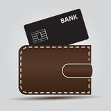 wallet and bank card eps10
