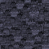 Vector seamless pattern - houses and real estate
