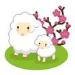 羊の親子 イラスト