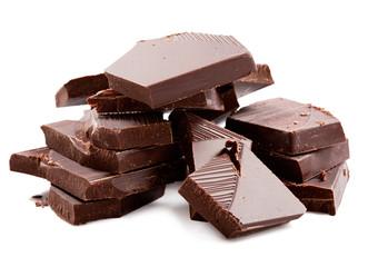 Dark chocolate bars stack