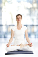 Beautiful woman meditating