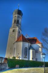 St. Laurentius und Pfarrhaus in Pähl