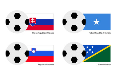 Slovakia, Somalia, Slovenia and Solomon Islands Flag