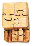 three dimensional wooden puzzle