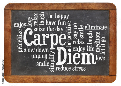 Carpe DIem word cloud