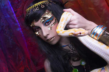 Woman with snake.