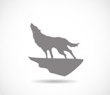 Howling wold icon vector