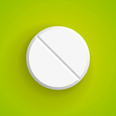 Vector Realistic pill, eps10