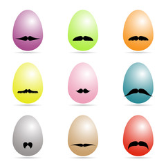 eggs with mustache