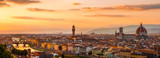 Panoramic view of the Florence city during golden sunset - 61523427