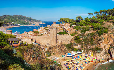 Medieval castle in Tossa de Mar, Costa Brava, Spain