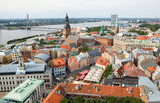 The panorama view of Riga, Latvia