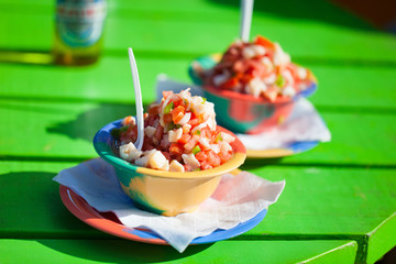 Bahamian conch salad