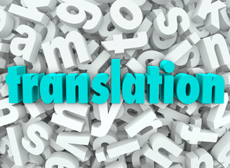 Translation 3d Letter Background Interpret Language Meaning