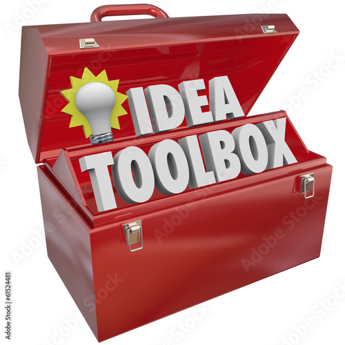 Idea Toolbox Creativity Inspiration Brainstorming Light Bulb Too