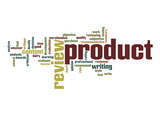 Product review word cloud