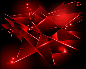 abstract black background with red geometric shapes