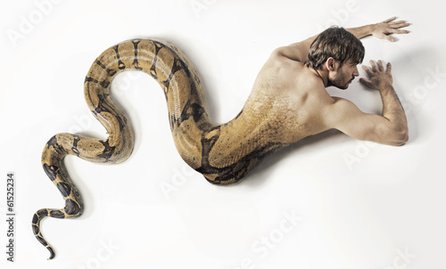 Art photo presneting the snake man