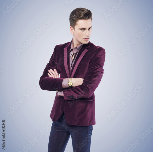 Young stylish man with serious look