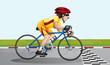 A biker near the finish lane