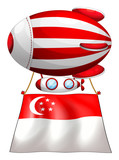 A stripe-colored balloon with the flag of Singapore
