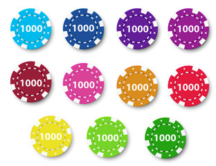 A group of poker chips