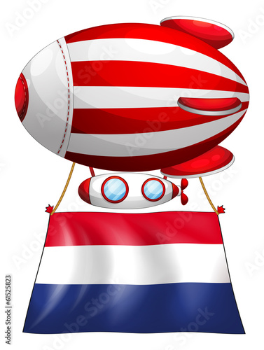 A balloon with the flag of Netherlands