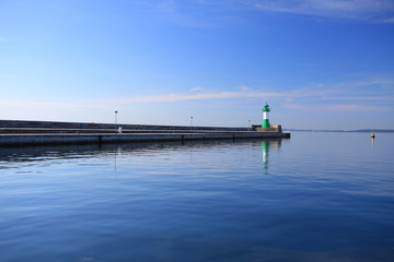 The lighthouse in Sassnitz Ruegen Island Germany