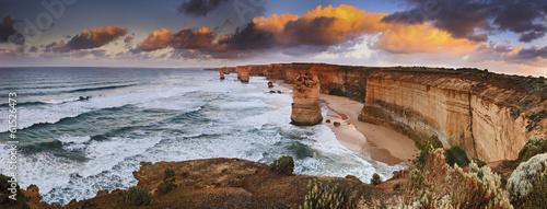 Foto op Aluminium Australië GOR 6 Apostles Sunrise panorama