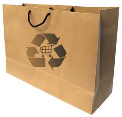 sac cabas en papier kraft recyclable pour les courses