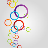 Colorful ring background for web