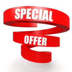 Special offer red helix banner